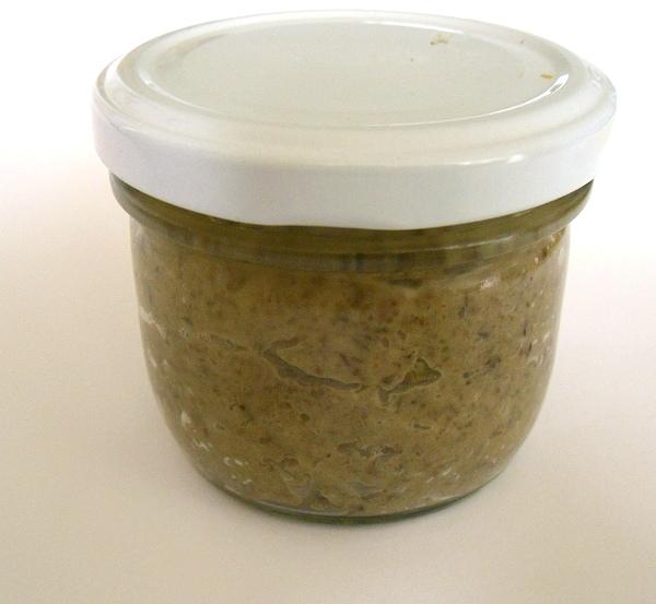 Linsen-Brotaufstrich im Glas