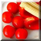 Schaltfläche, Artikelbild mit Tomaten, selbst gemacht.