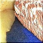 Nachtisch: Birne mit wenig Eis