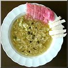 Kimchi am Rande der Suppe