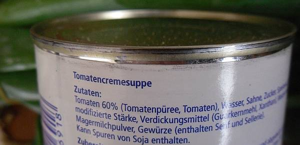Tomatensuppe Dose Zutatenliste