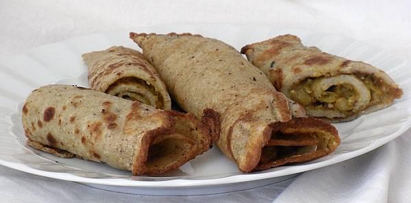 Bild: buchweizen-pfannkuchen mit gemüsigen baked beans