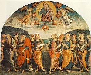 Pietro Perugino - Der Allmächtige mit Propheten und Sybilen