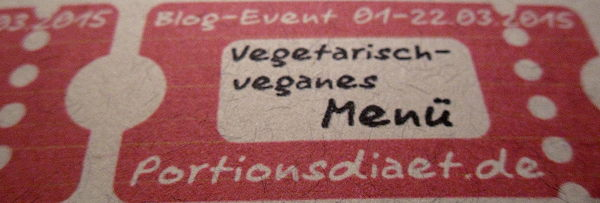Ticket zur Blogparade: Veganes Buffet